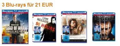 Blu-ray Aktion bei Amazon: 3 Blu-rays für nur 21€ versandkostenfrei!