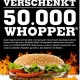 50.000 GRATIS-Whopper von Burger King