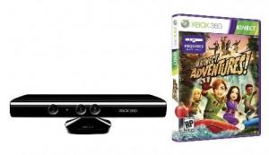 Xbox Kinect inkl. Kinect Adventures + 12 Monate Xbox Live nur 106€