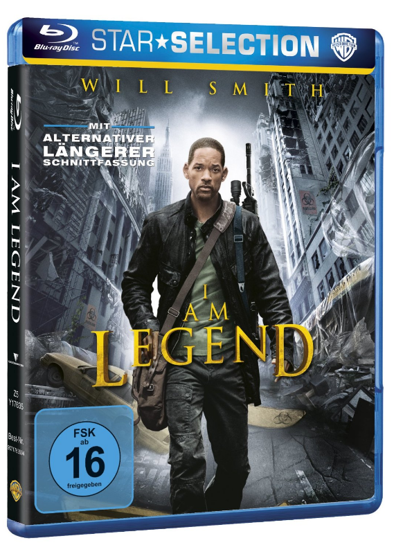 "Will Smith in ""I Am Legend"" - als Blu-ray nur 8,97€ inklusive Versandkosten bei Amazon."