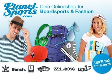 Streetwear, Schuhe und mehr bei Planet Sports shoppen und mit Groupon-Gutschein 21€ sparen