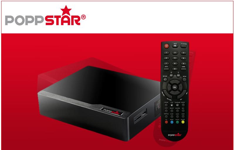 Poppstar MKV Mediaplayer mit 2000GB Festplatte für 109,99€ versandkostenfrei
