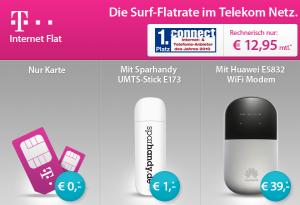 UMTS-Flat von T-Mobile oder Vodafone für nur 12,95€ im Monat