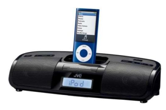 jvc radiowecker mit iphone ipod dockingstation f r 25. Black Bedroom Furniture Sets. Home Design Ideas