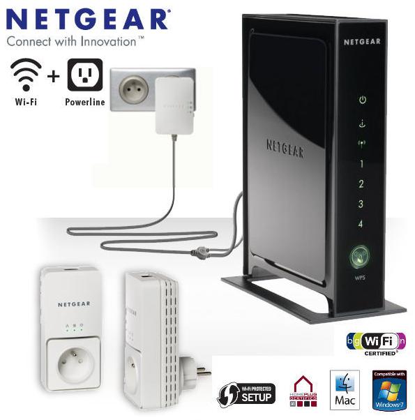 netgear kit wlan router n300 mit powerline f r 125 90 inklusive versandkosten. Black Bedroom Furniture Sets. Home Design Ideas