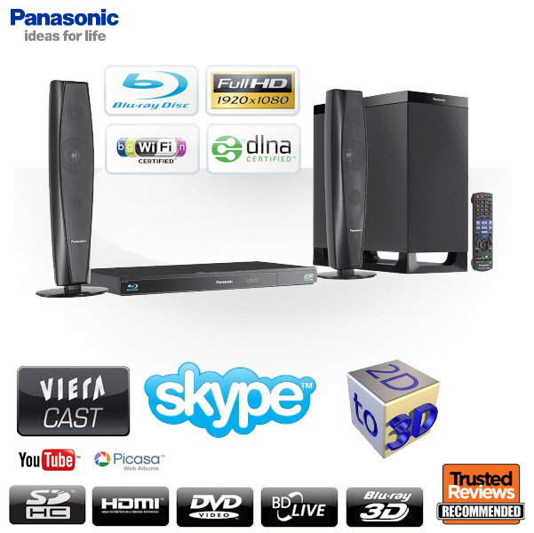 panasonic 3d blu ray 2 1 heimkinosystem sc btt362 f r 258. Black Bedroom Furniture Sets. Home Design Ideas