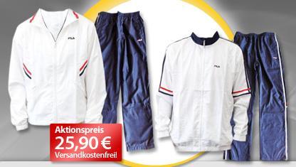 100% Zufriedenheit Top Marken verrückter Preis Fila Damen- oder Herren-Trainingsanzug für 25,90 ...