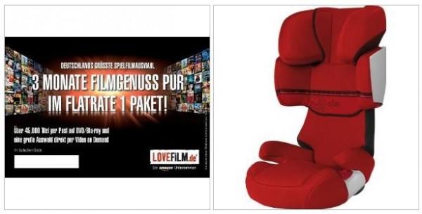 amazon blitzangebote 3 monate lovefilm flatrate 1 paket. Black Bedroom Furniture Sets. Home Design Ideas