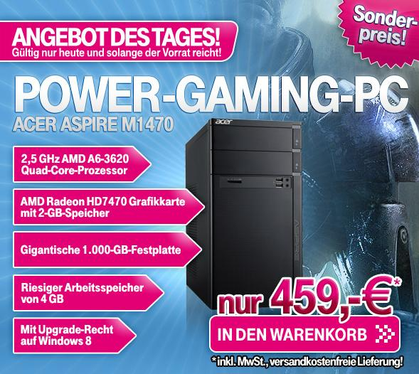 gaming pc acer aspire m1470 f r 459 versandkostenfrei im t online shop. Black Bedroom Furniture Sets. Home Design Ideas